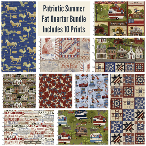Patriotic Summer Fat Quarter Bundle - Expected Feb 2021 - brewstitched.com
