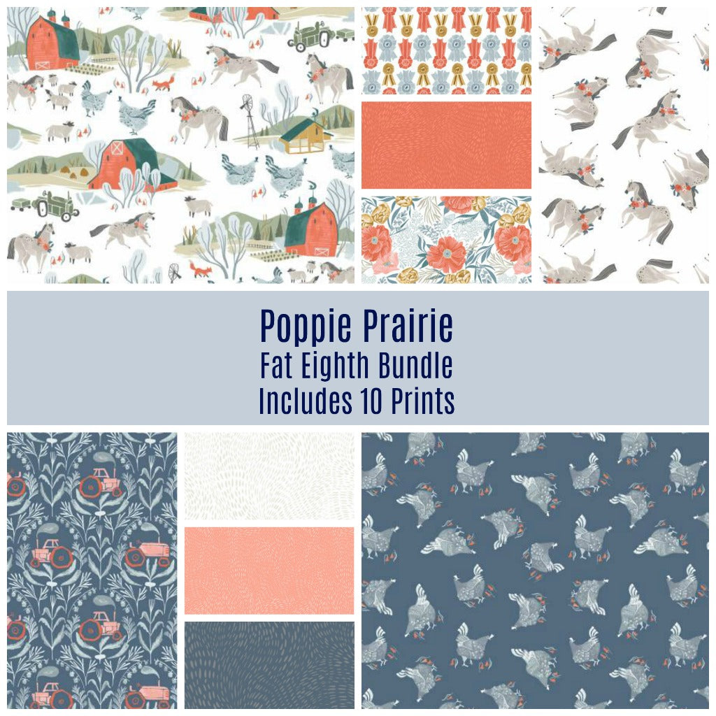 Poppy Prairie Fat Eighth Bundle - Coming Oct 2020 - brewstitched.com