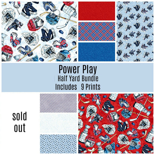 Power Play Half Yard Bundle - Includes 9 Prints - brewstitched.com
