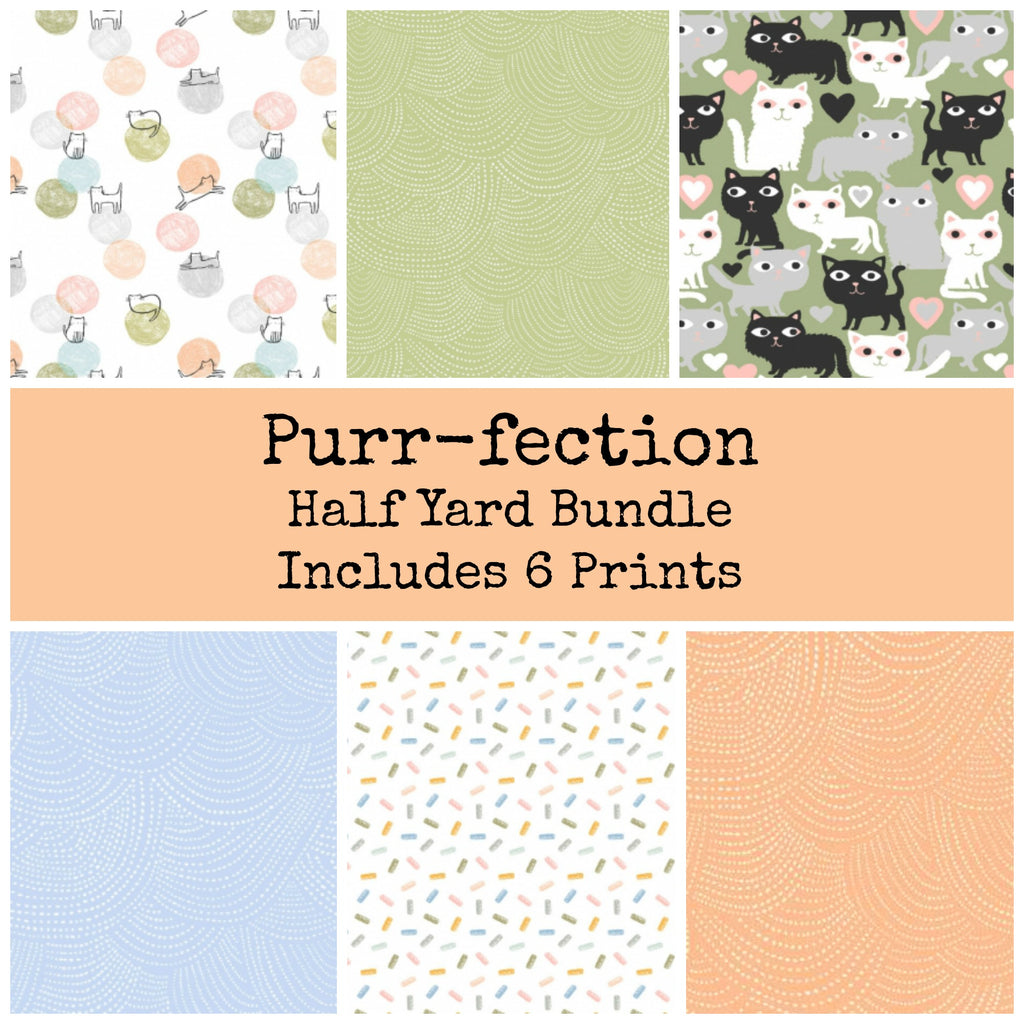 Purr-fection Half Yard Bundle - brewstitched.com