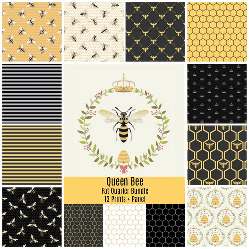 Queen Bee Fat Quarter Bundle - brewstitched.com