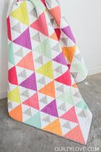 Triangle Peaks Paper Quilt Pattern from Quilty Love - brewstitched.com