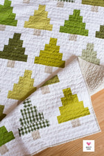Quilty Trees Quilt Paper Pattern from Quilty Love - brewstitched.com