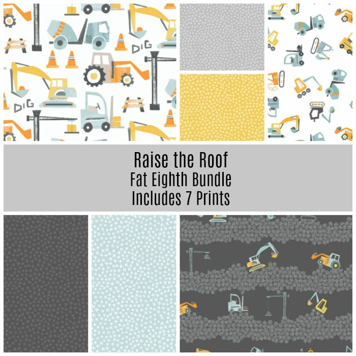 Raise The Roof Fat Eighth Bundle - Includes 7 Prints - brewstitched.com