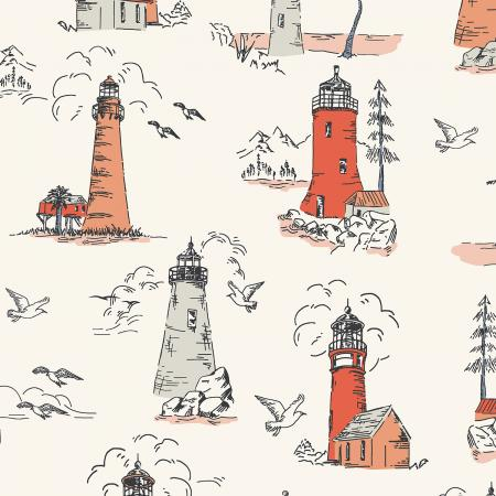 Smooth Seas Lighthouse Glow - Priced by the Half Yard - Expected Feb 2021 - brewstitched.com