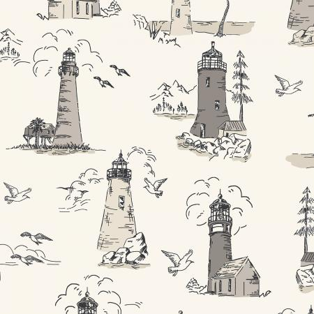 Smooth Seas Lighthouse Sand - Priced by the Half Yard - Expected Feb 2021 - brewstitched.com