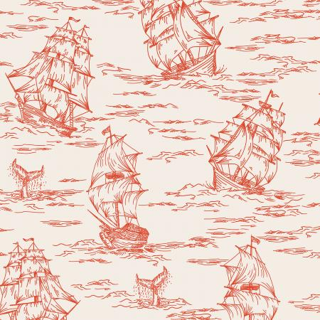 Smooth Seas Voyage Red - Priced by the Half Yard - Expected Feb 2021 - brewstitched.com