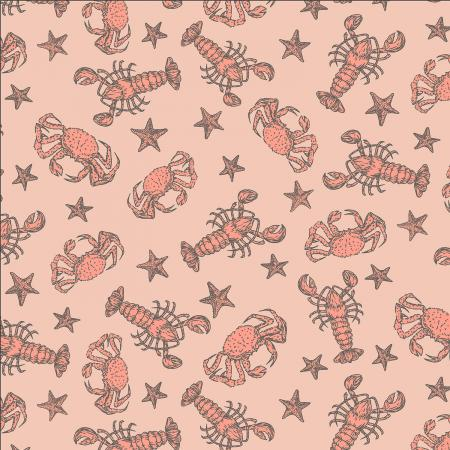 Smooth Seas Crustacean Sunbathe - Priced by the Half Yard - Expected Feb 2021 - brewstitched.com