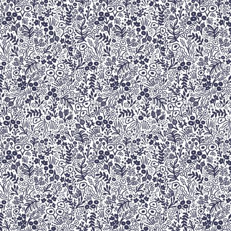 Rifle Paper Co. Basics Tapestry Lace Navy - Priced by the Half Yard - brewstitched.com
