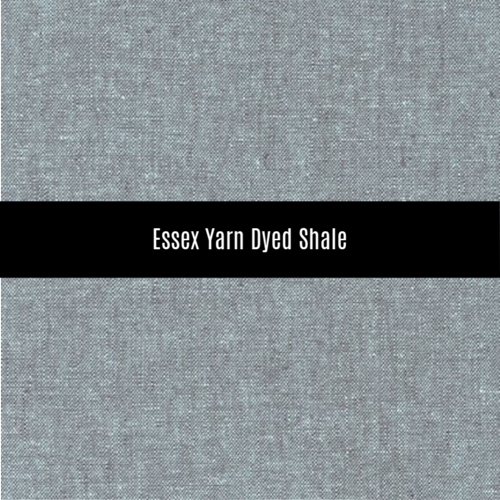 Essex Yarn Dyed Linen in Shale - Priced by the Half Yard - brewstitched.com