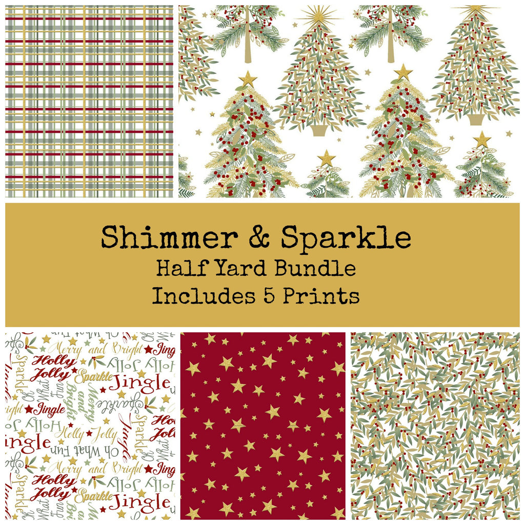 Shimmer and Sparkle Half Yard Bundle - Coming August 2020 - brewstitched.com