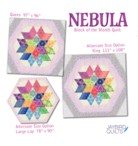 Nebula BOM King Size Quilt Top Upgrade - EXPECTED MAY 2021 - brewstitched.com