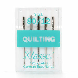 Klasse Quilting Machine Needle Size 80/12 - Includes 5 - brewstitched.com