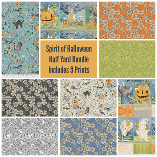 Spirit of Halloween Half Yard Bundle - Expected May 2021 - brewstitched.com