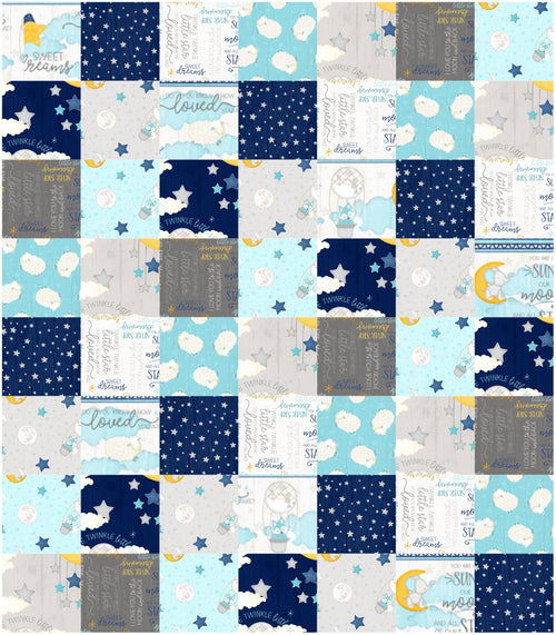 All Our Stars Baby Just Strips or Squares Quilt Kit - brewstitched.com