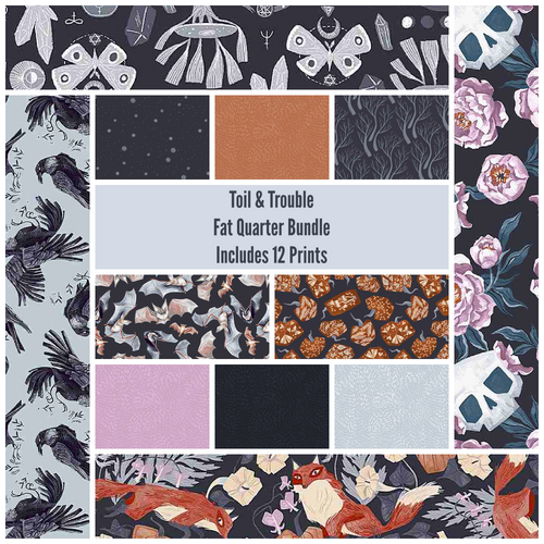 Toil and Trouble Fat Quarter Bundle - Expected April 2021 - brewstitched.com