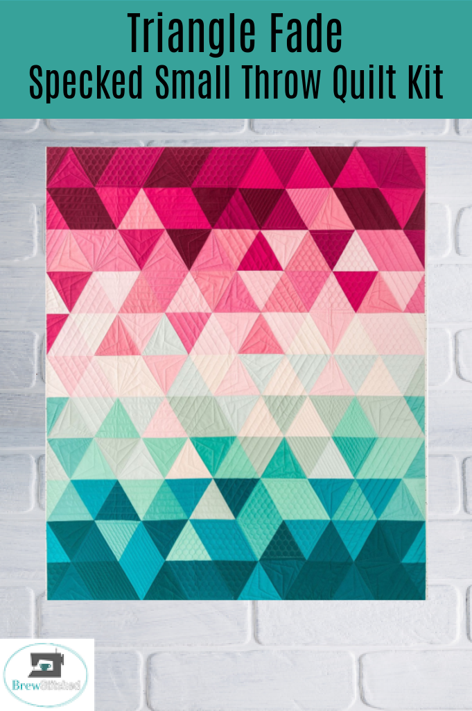 Speckled Triangle Fade Small Throw Quilt Kit - brewstitched.com