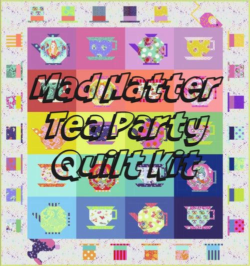 Curiouser and Curiouser Mad Hatter Tea Party by Tula Pink Quilt Kit - Reservation Fee - brewstitched.com