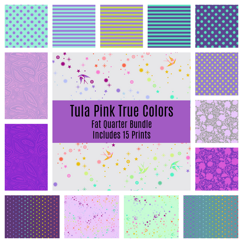 Tula's True Colors Peacock Fat Quarter Bundle - brewstitched.com