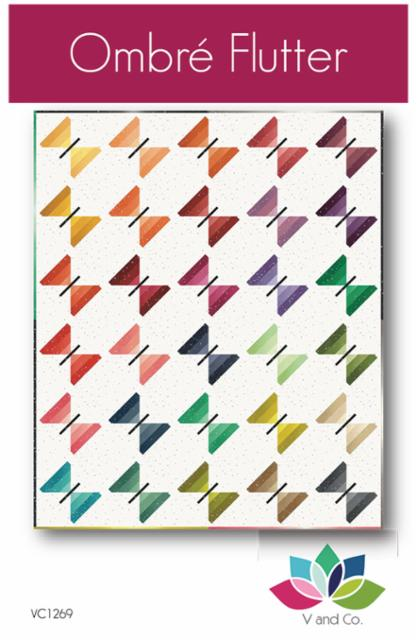 Ombre Flutter Quilt Paper Pattern from V & Co