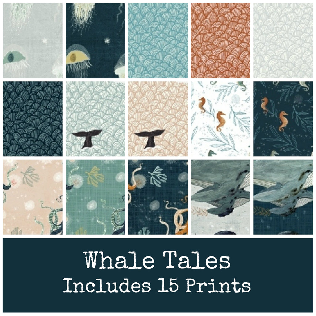Whale Tales Fat Quarter Bundle - Coming May 2020 - brewstitched.com