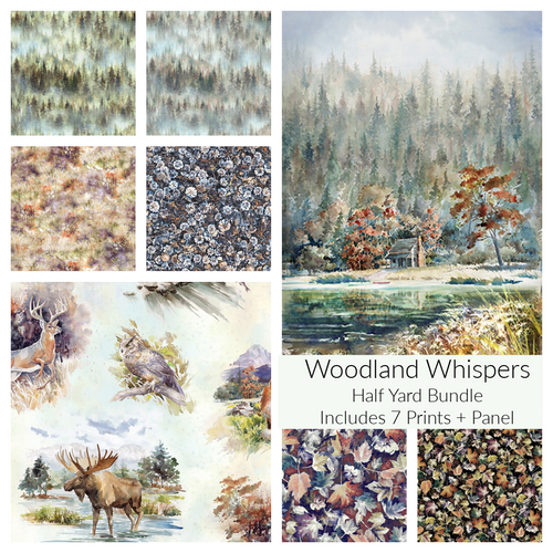 Woodland Whispers Half Yard Bundle - brewstitched.com