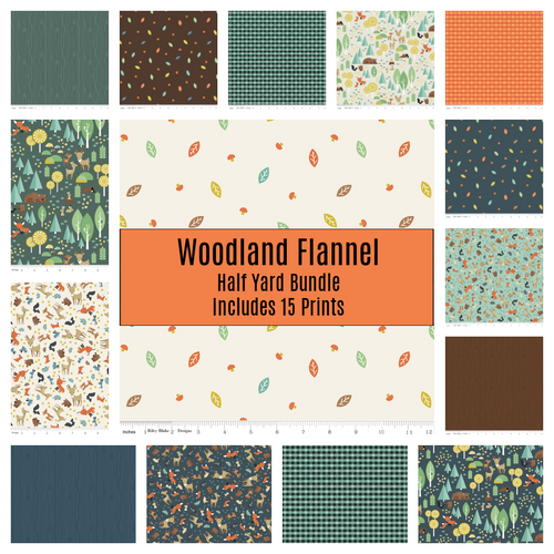 Woodland Flannel Half Yard Bundle - Expected March 2021 - brewstitched.com