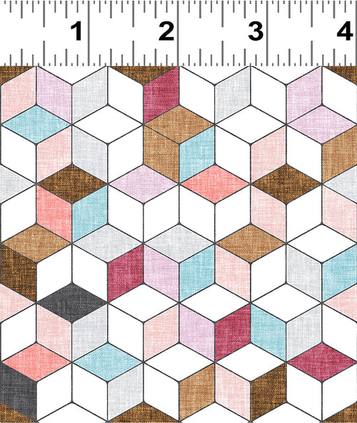 Forest Glade Berry Geo Cubes  - Priced by the Half Yard - Expected Feb 2021 - brewstitched.com