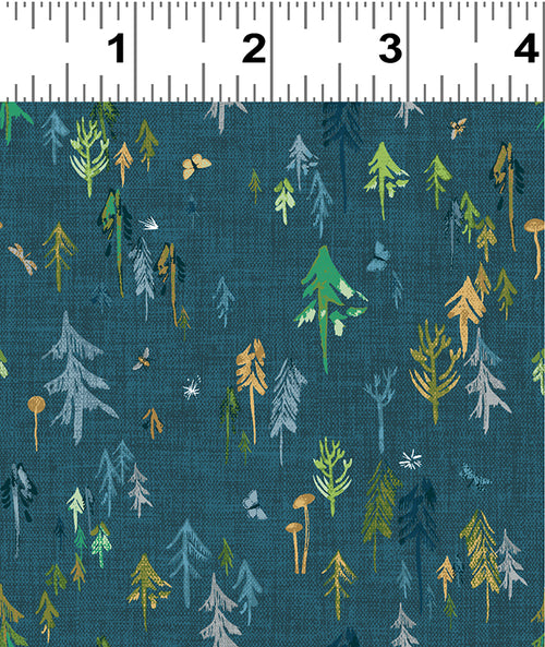 Forest Glade Teal Forest  - Priced by the Half Yard - Expected Feb 2021 - brewstitched.com