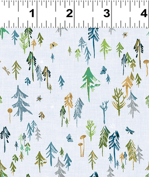 Forest Glade Blue Forest  - Priced by the Half Yard - Expected Feb 2021 - brewstitched.com