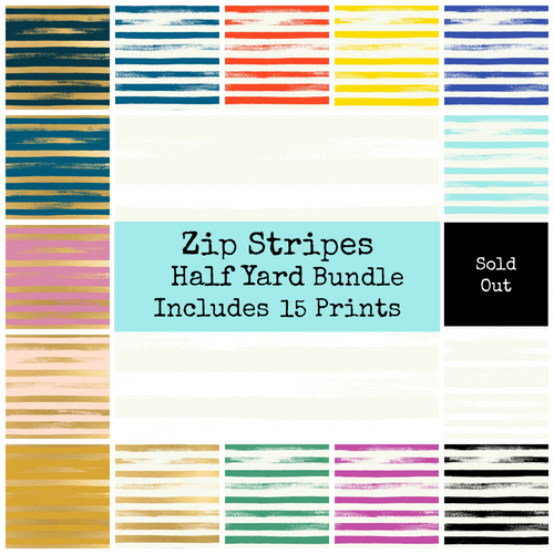 Zip Stripe Half Yard Bundle - Includes 15 Prints - brewstitched.com