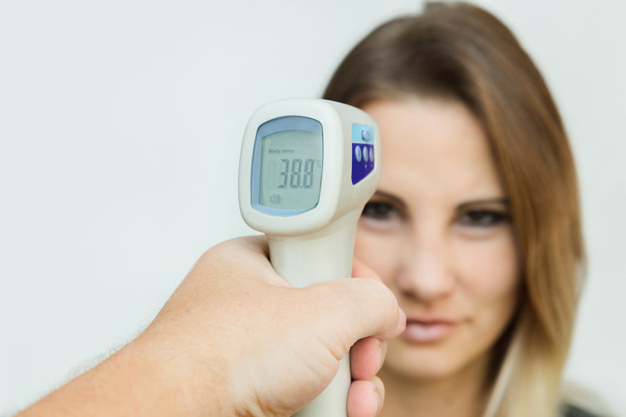 Non-Contact IR Thermometer and Incontinence Management