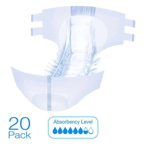 Allusive Incontinence Slip Brief Diaper 20 Pack