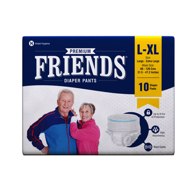 Friends Adult Pull-Ups Diaper (L-XL) 80 Pack - Holistic Incontinence