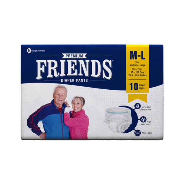 Friends Adult Pull-Ups Diaper (M-L) 10 Pack - Holistic Incontinence