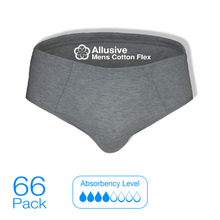 Load image into Gallery viewer, Incontinence Pads - Allusive Mens Cotton Flex 66 Pack - Holistic Incontinence