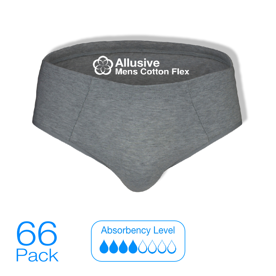 Incontinence Pads - Allusive Mens Cotton Flex 66 Pack - Holistic Incontinence