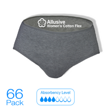 Load image into Gallery viewer, Allusive Womens Cotton Flex Incontinence Pads 66 Pack - Holistic Incontinence