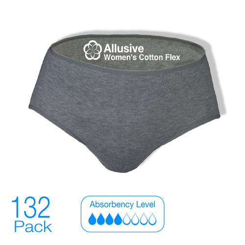 Allusive Womens Cotton Flex Incontinence Pads 132 Pack - Holistic Incontinence