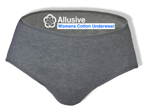Allusive Womens Cotton Incontinence Underwear 6 Pack - Holistic Incontinence