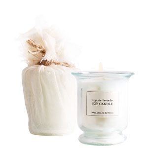 napa valley organic lavender soy candle