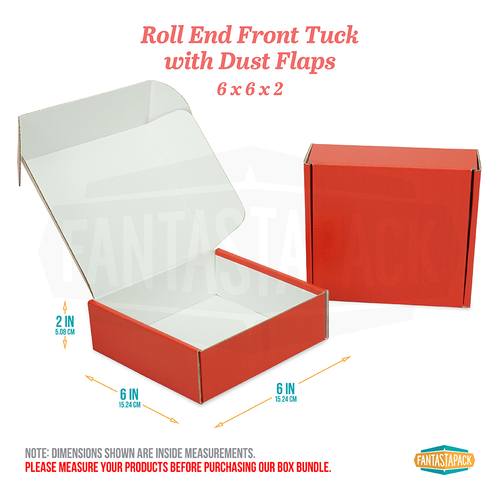 "Red Shipping Boxes - Dimensions 6"" x 6"" x 2"""