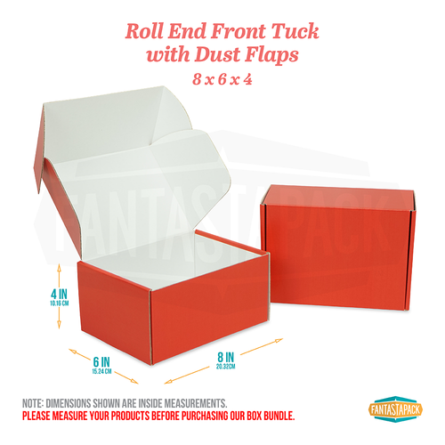 "Red Shipping Boxes - Dimensions 8"" x 6"" x 4"""
