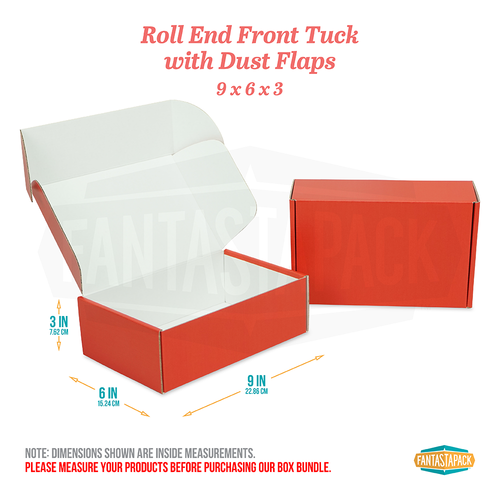 "Red Shipping Boxes - Dimensions 9"" x 6"" x 3"""