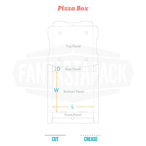 Custom Pizza Box Dieline