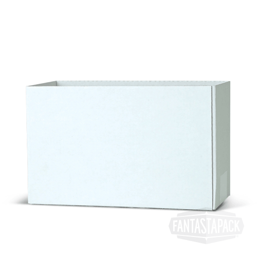 Half Slotted Container white