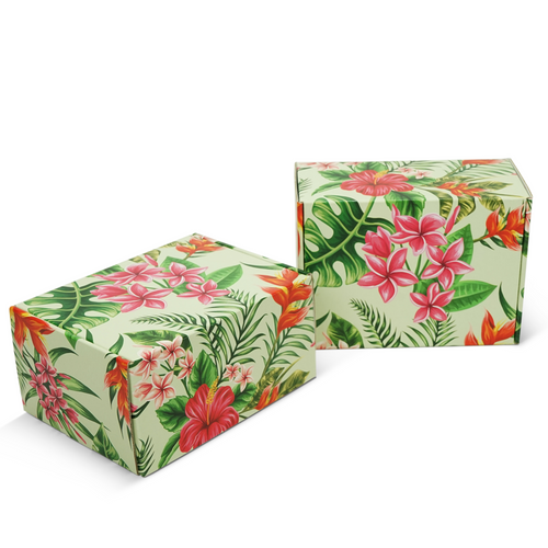 "Tropical Mailer Box / 8"" x 6"" x 4"""