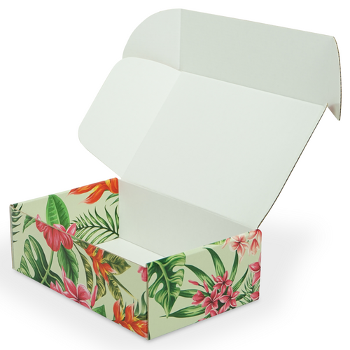 "Hawaiian Themed Shipping Box | 9"" x 6"" x 3"""