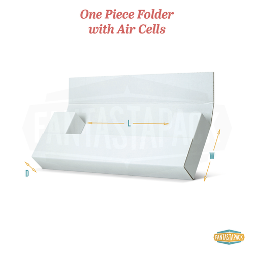 One Piece Folder with Air Cells