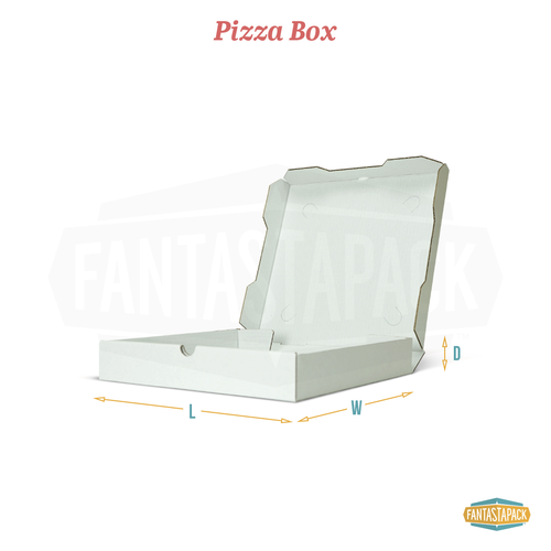 Custom pizza box dimensions diagram